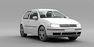 3d家用轿车模型