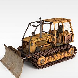 推土機模型3d模型