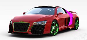 3d奥迪<font class='myIsRed'>跑车</font>模型