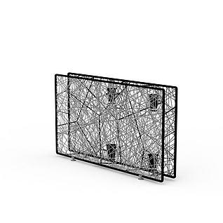 室内创意屏风隔断3d模型3d模型