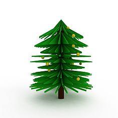 卡通圣诞树3D模型3d模型