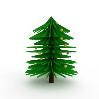 卡通圣诞树3d模型