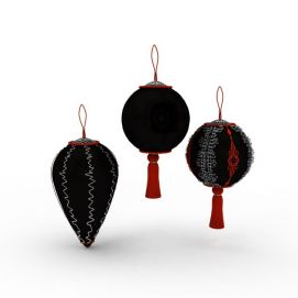 圣诞节装饰物挂件3d模型