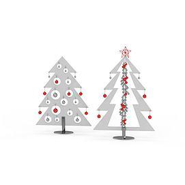 3d抽象的<font class='myIsRed'>圣诞树</font>模型