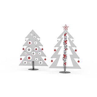 抽象的<font class='myIsRed'>圣诞</font>树3d模型