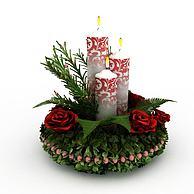 圣诞节蜡烛Christmas3D模型3d模型
