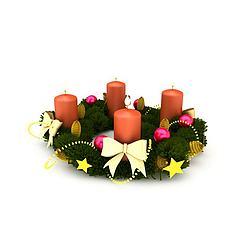 圣诞花环蜡烛christmas3D模型3d模型