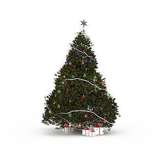 超高精细<font class='myIsRed'>圣诞</font>树3d模型