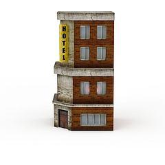 酒店3D模型3d模型