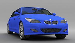 3d蓝色<font class='myIsRed'>小汽车</font>模型