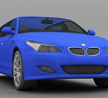 蓝色小汽车