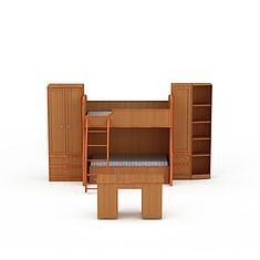 宿舍双层床3D模型3d模型