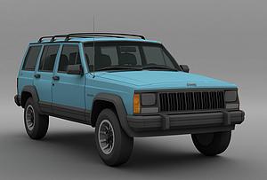 3d吉普车模型