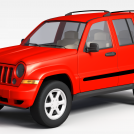 红色吉普车模型