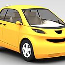 金色轿车模型