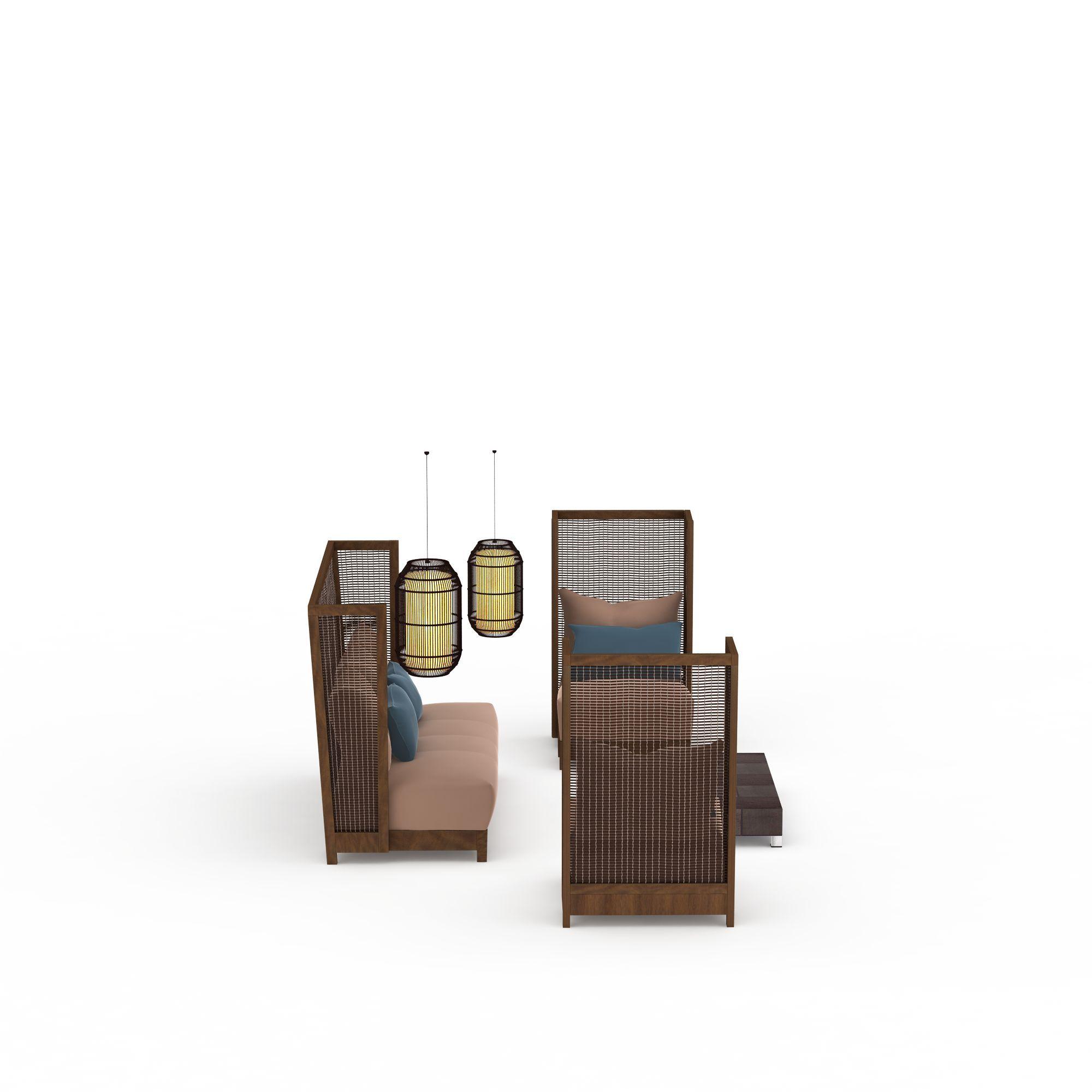 3d藤编沙发模型