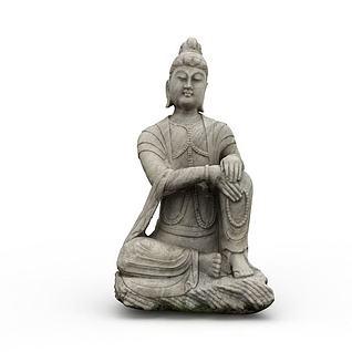 佛教艺术品3d模型