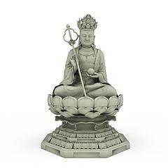 菩萨佛像模型3d模型