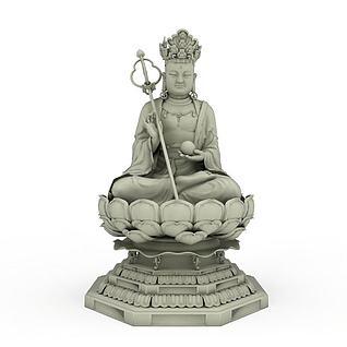 菩萨佛像3d模型