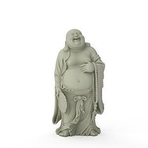 3d弥勒佛石像模型