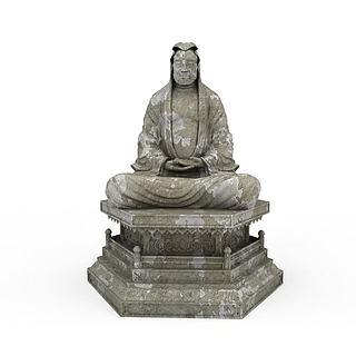仿古佛教艺术品3d模型