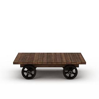 木板车3d模型3d模型