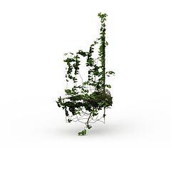 公园藤蔓模型3d模型