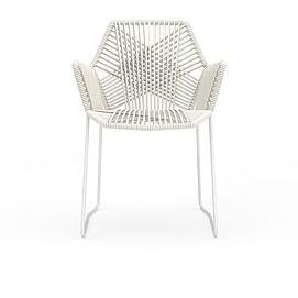 时尚白色<font class='myIsRed'>编织藤椅</font>3d模型