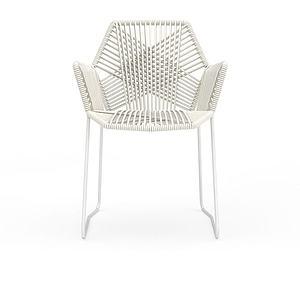 3d時尚白色<font class='myIsRed'>編織藤椅</font>模型