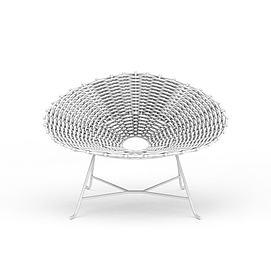 休闲藤椅3d模型