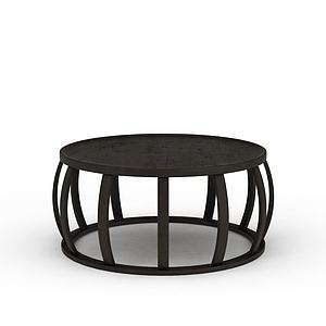 现代鼓形圆凳模型3d模型