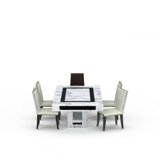 时尚简约餐桌椅组合3d模型3d模型