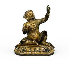 铜像模型3d模型
