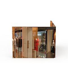 商场服饰模型3d模型