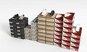 3d鞋<font class='myIsRed'>盒子</font>模型