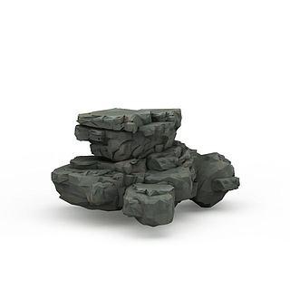 公园<font class='myIsRed'>石头</font>3d模型