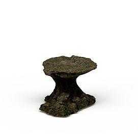 3d景观石材模型