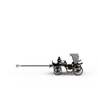 老式马车3d模型