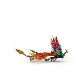 飞行类动物凤凰3d模型