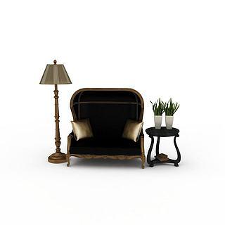 休闲沙发3d模型