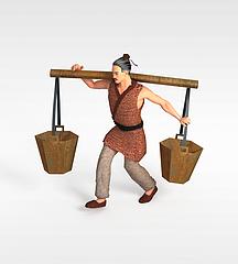 古代农民3D模型3d模型