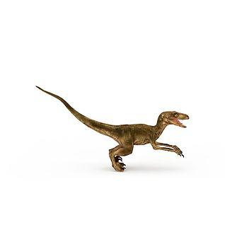 小型食肉龙3d模型