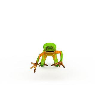 游戏青蛙3d模型