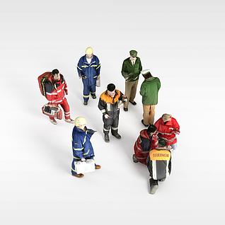 维修工人3d模型
