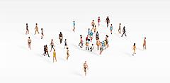 人群3D模型3d模型