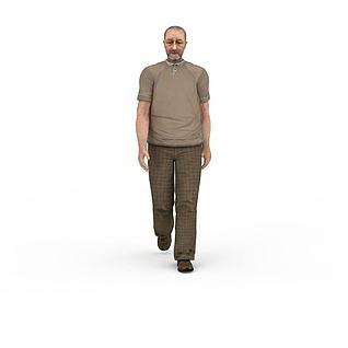 老人3d模型