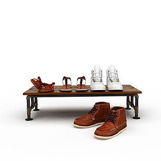 鞋子鞋架3d模型