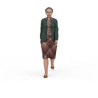 老妇人3d模型3d模型