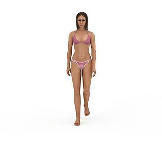 比基尼女人3d模型3d模型