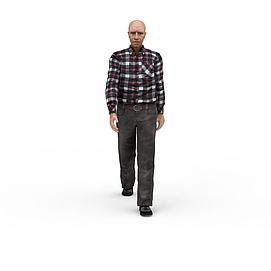 欧美老人3d模型
